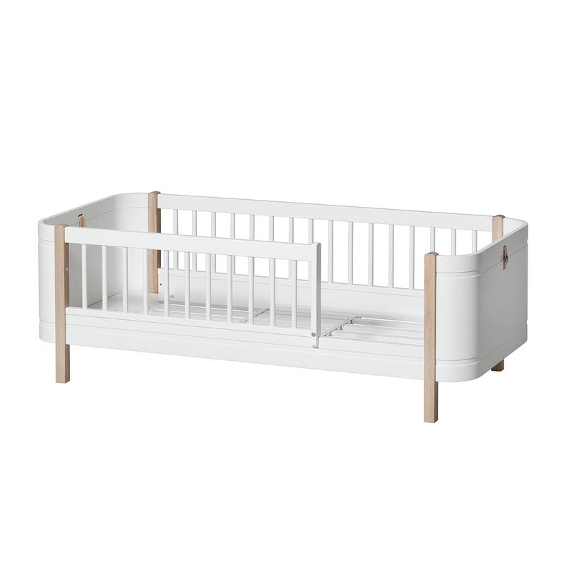Juniorbett 'Mini+' Eiche/weiß 68x162cm