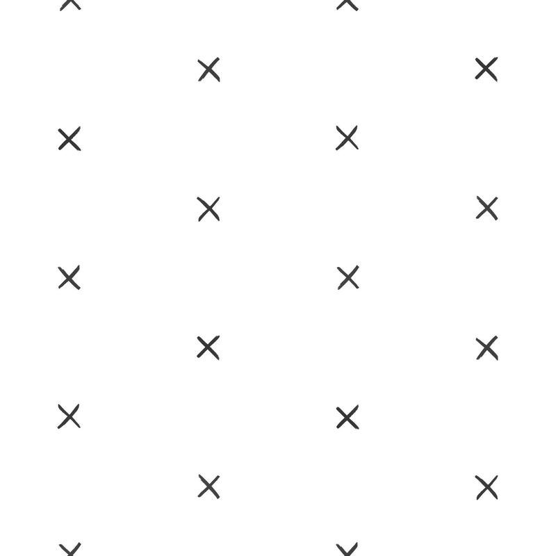 Vliestapete 'Kreuze' grau/schwarz