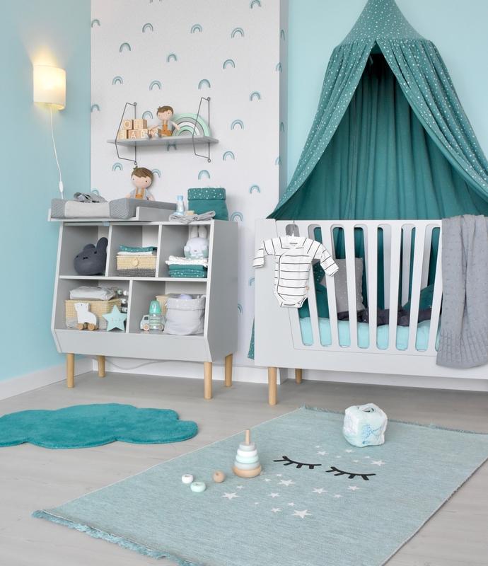 Babyzimmer in Mint & Jade mit Done by Deer Möbeln