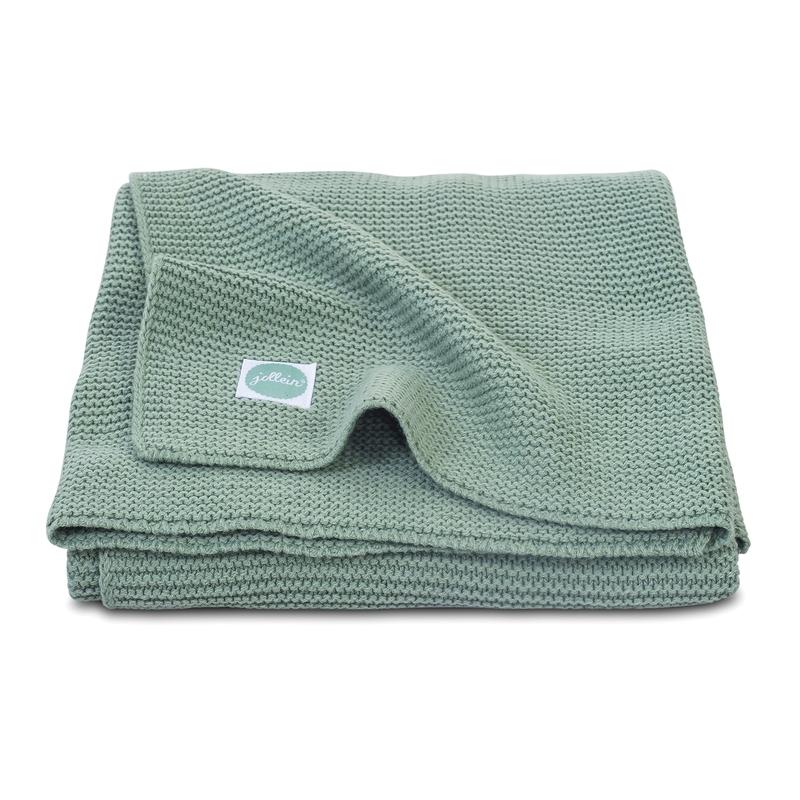 Strickdecke 'Basic Knit' jade