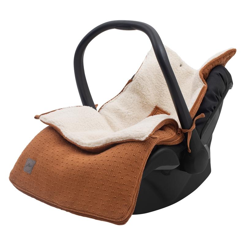 Fußsack 'Bliss Knit' Strick/Plüsch rost
