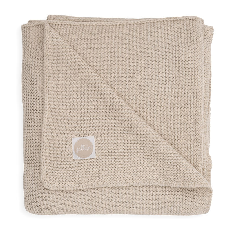 Strickdecke 'Basic Knit' beige
