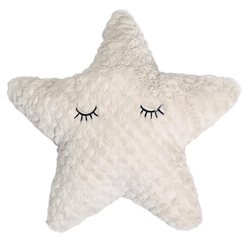 Kissen 'Stern' Softplüsch cremeweiß ca. 35cm