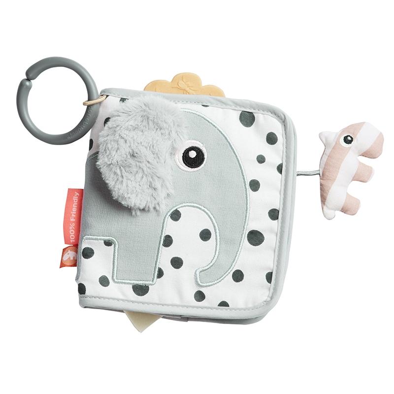 Activity-Babybuch 'Elphee Elefant' grau