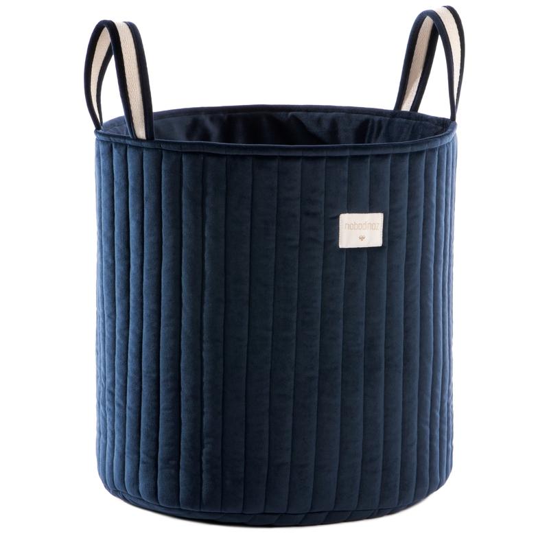 Aufbewahrungskorb aus Samt dunkelblau