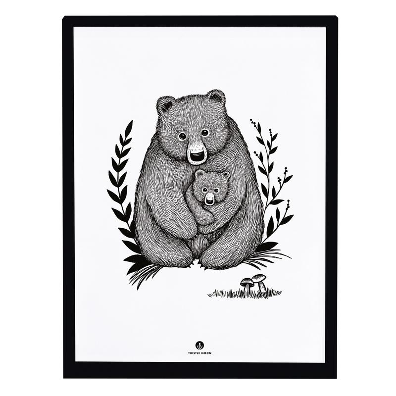Bild 'Bären' schwarz/weiß 30x40cm