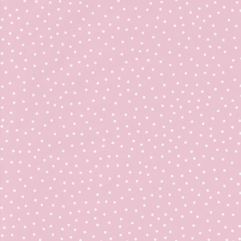 Tapete Minipunkte rosa 'Girl Power'