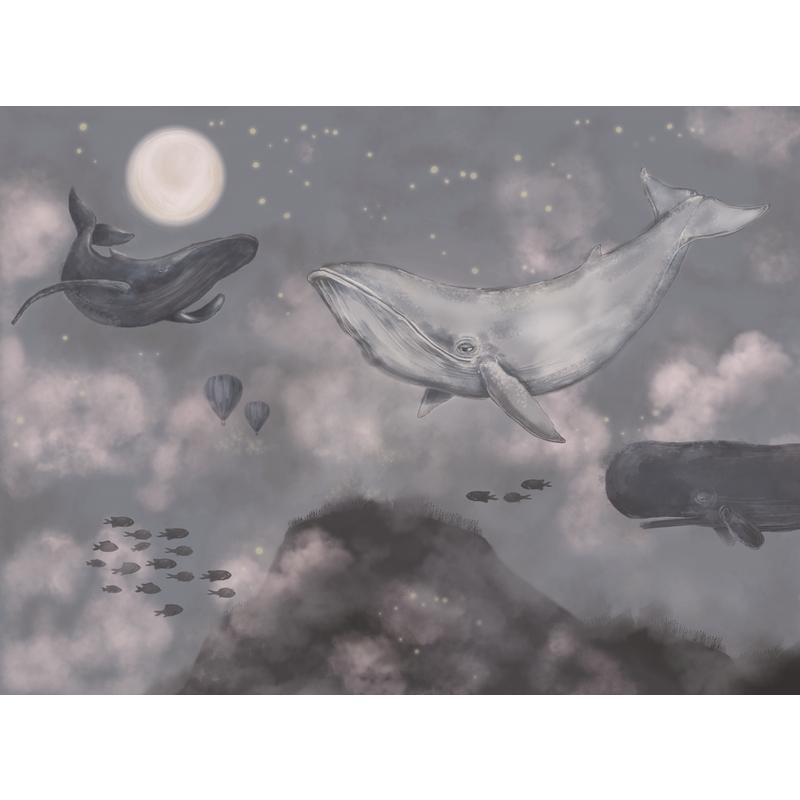Fototapete 'Wale' blau 360x265cm