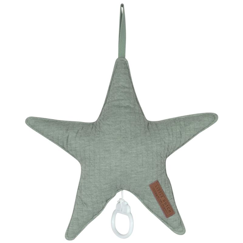 Spieluhr Stern 'Pure' Jersey jade ca. 27cm