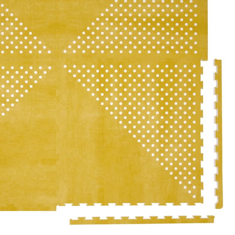 Spielmatte 'Earth' senfgelb 120x180cm