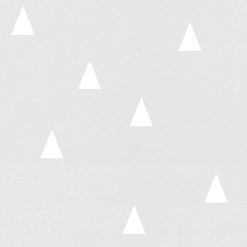 Vliestapete 'Kleine Dreiecke' hellgrau/weiß