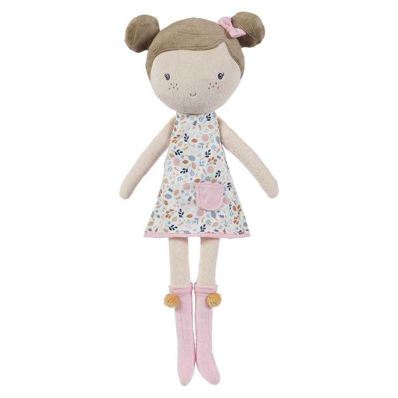 XL Stoffpuppe 'Rosa' mit Blumenkleid 50cm