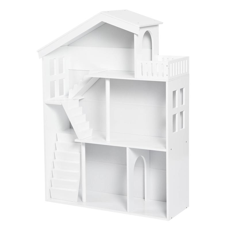 Puppenhaus Regal aus Holz weiß 82x116cm