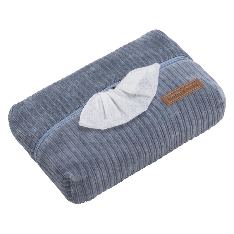 Feuchttücherbezug 'Sense' Samt blau