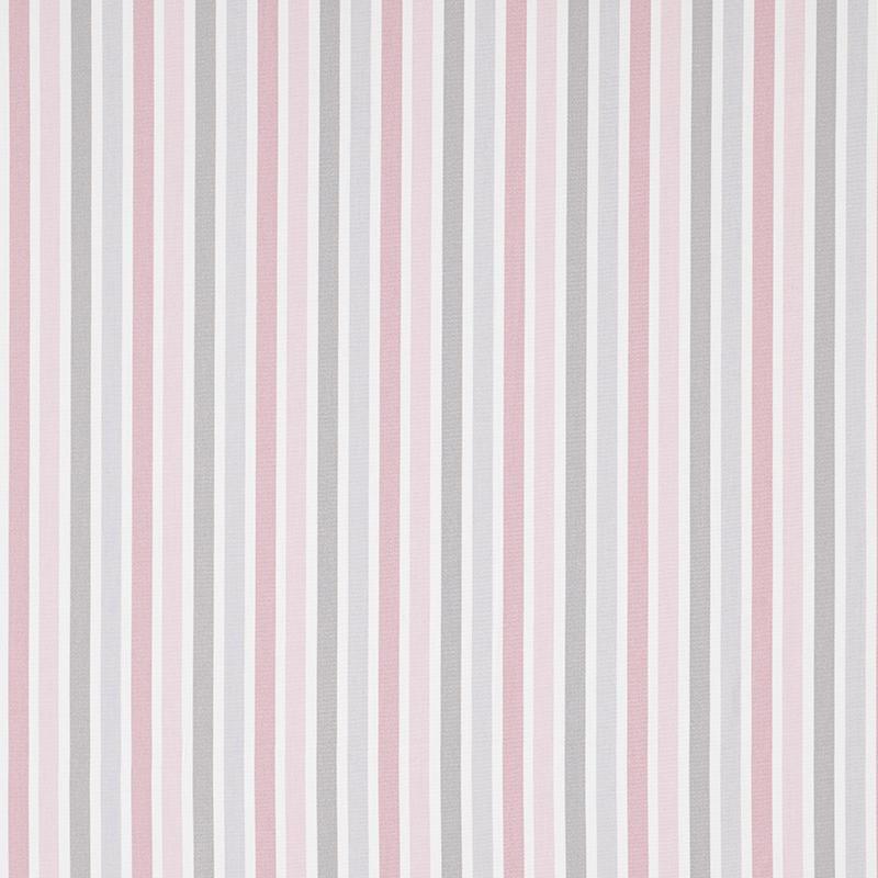 Stoff 'My Little World' Streifen rosa/beige