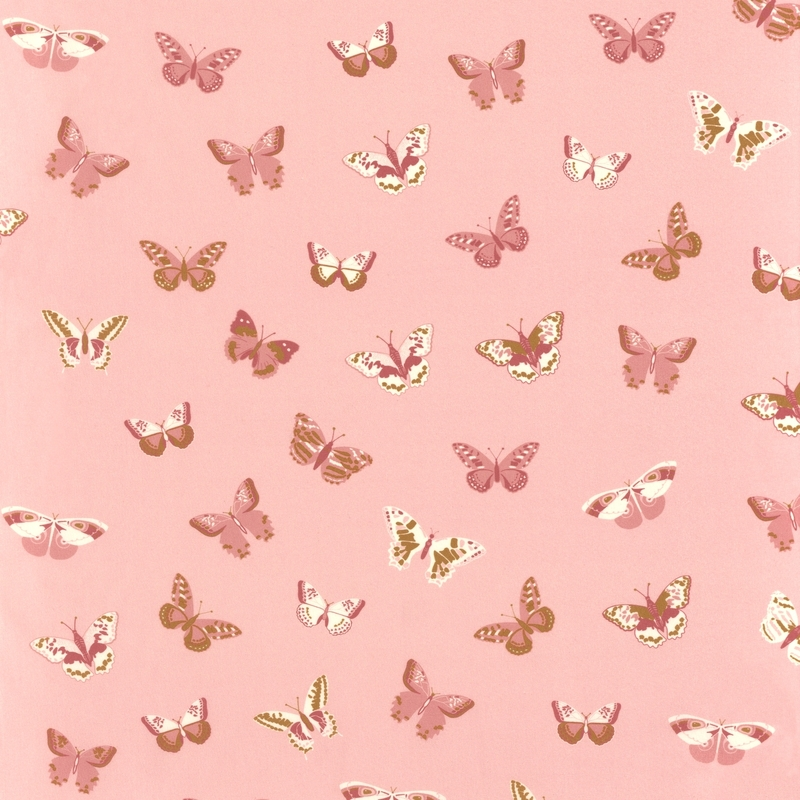 Stoff Schmetterlinge altrosa 'Girl Power'