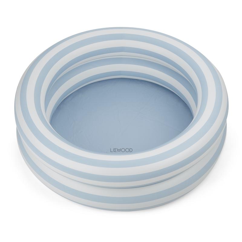 Planschbecken 'Streifen' hellblau 80cm