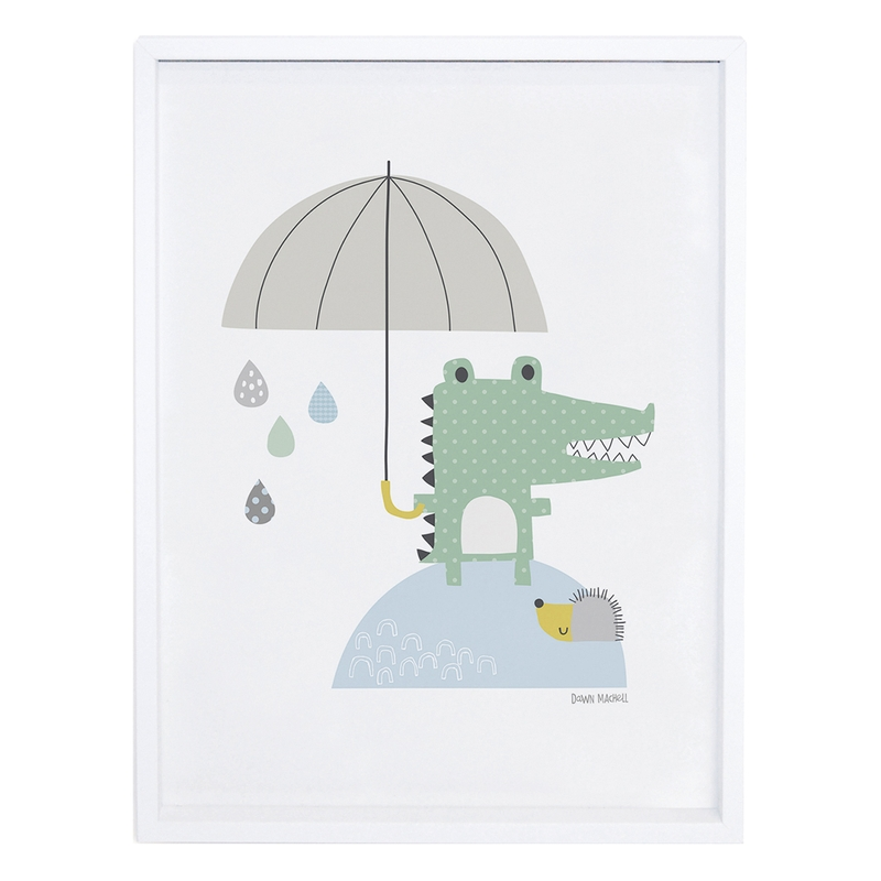 Bild 'Krokodil mit Regenschirm' 30x40cm