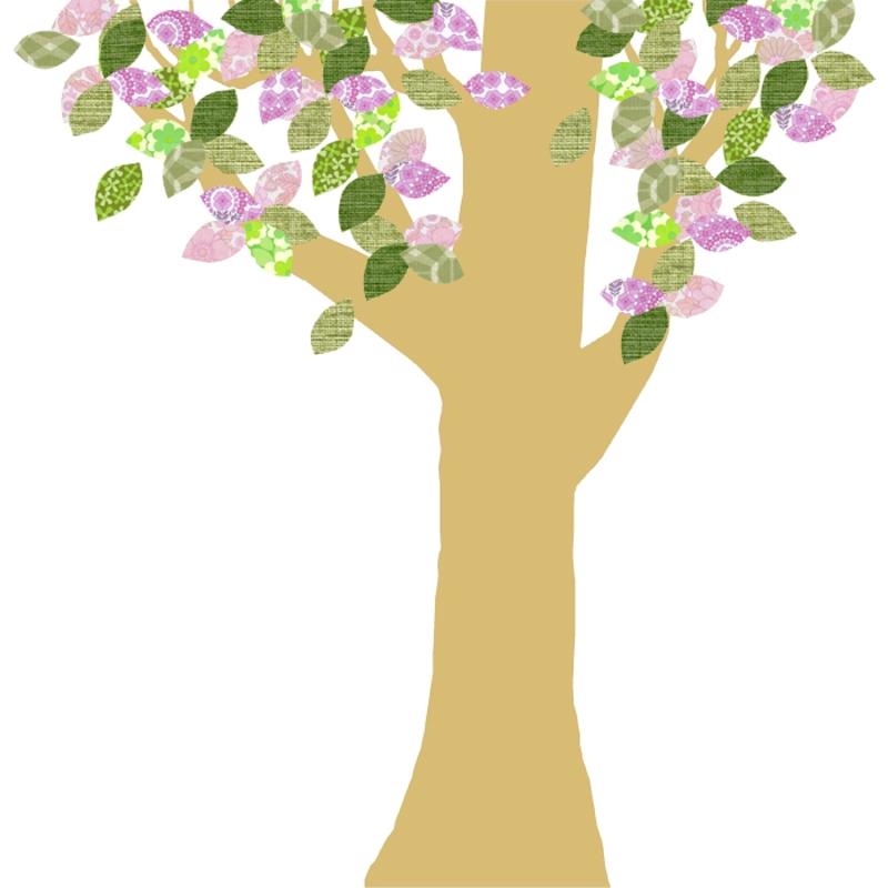 Tapetenbaum groß gold/rosa/grün