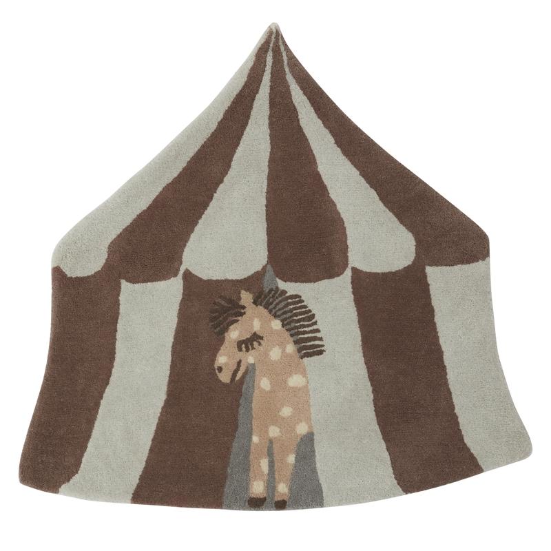 Teppich 'Zirkus' braun/beige 102cm