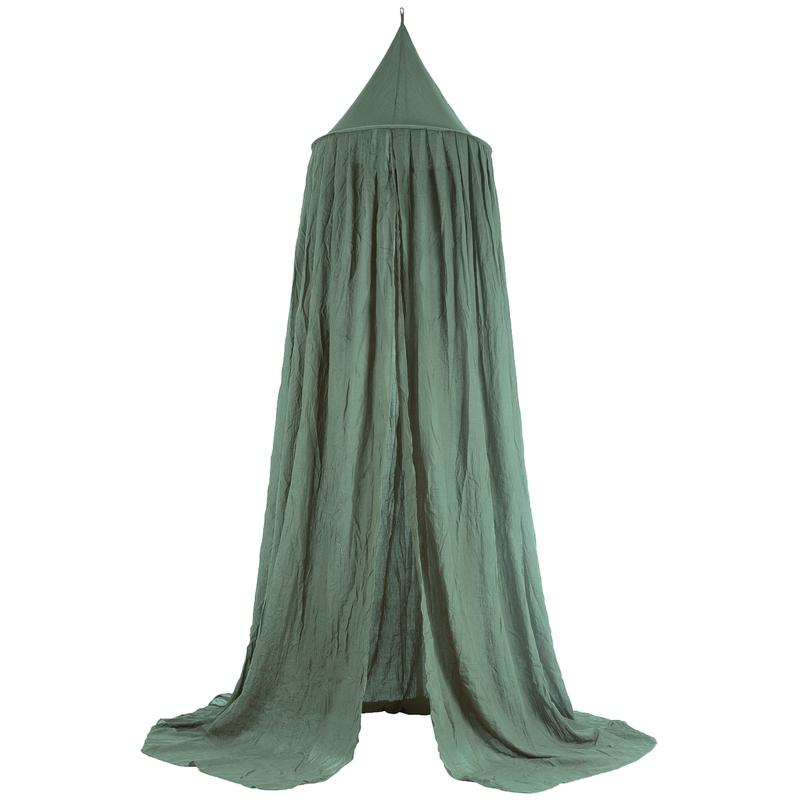 Baldachin 'Vintage' Voile grün 245cm