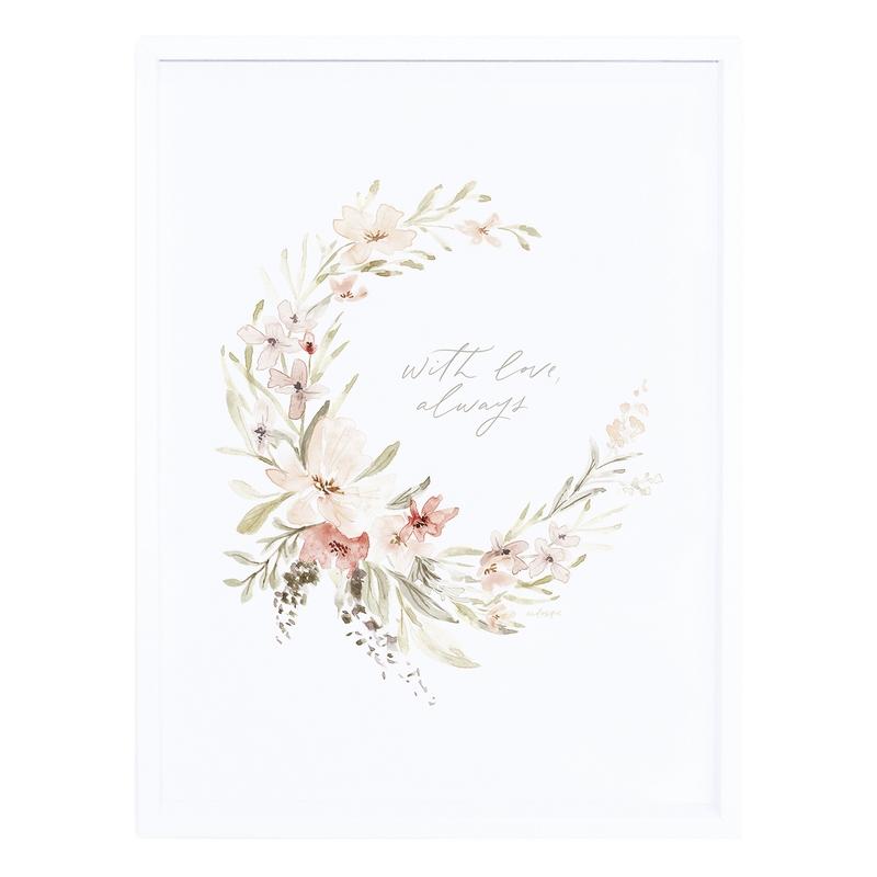 Bild 'Aquarell Blumen' puder 30x40cm