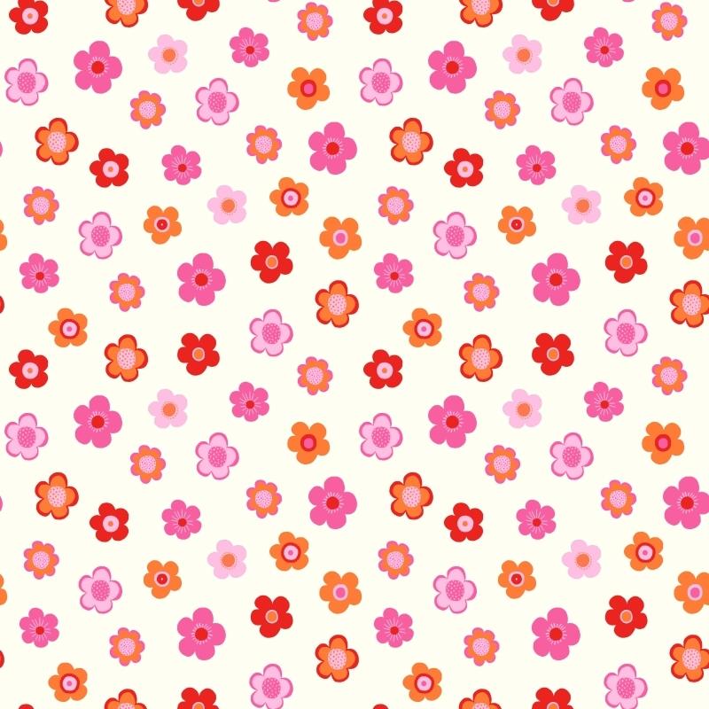 Vliestapete 'Vintage Flowers' pink