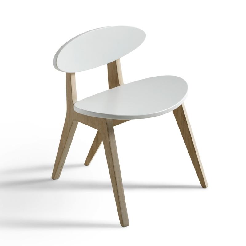 Kinderstuhl 'Wood Ping Pong' Eiche/weiß