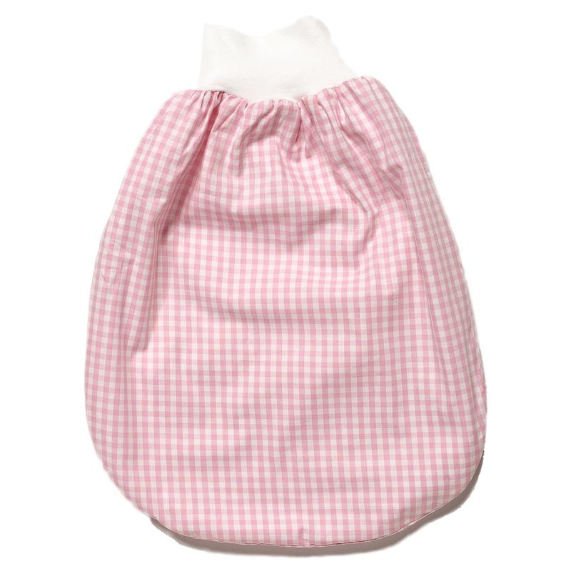 Pucksack Vichykaro rosa/weiß