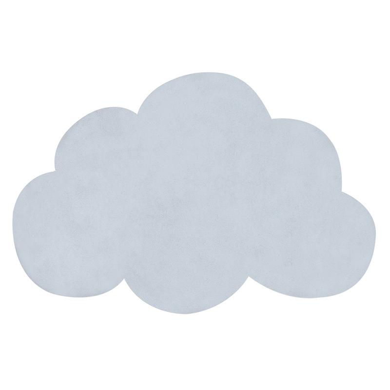 Kinderteppich 'Wolke' pastellblau ca. 64x100cm