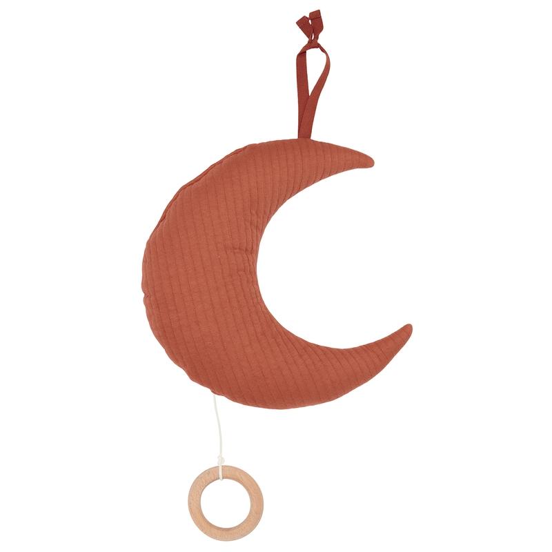 Spieluhr Mond 'Pure' Jersey rost ca. 27cm