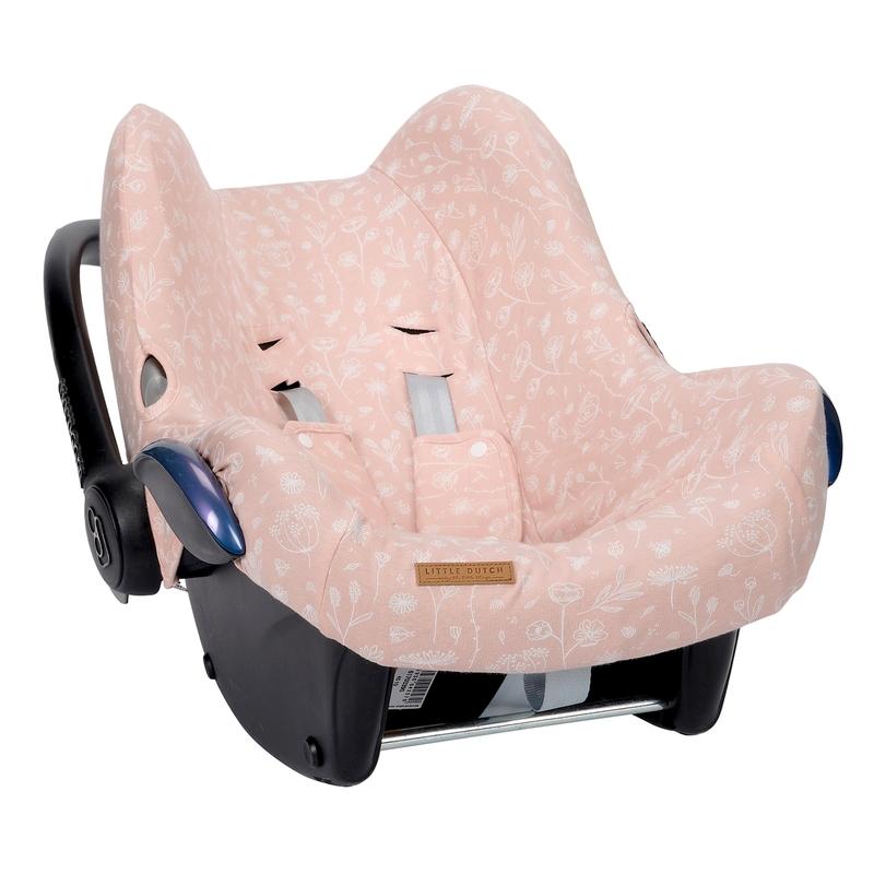 Sitzbezug 'Wild Flowers' rosa für Babyschale