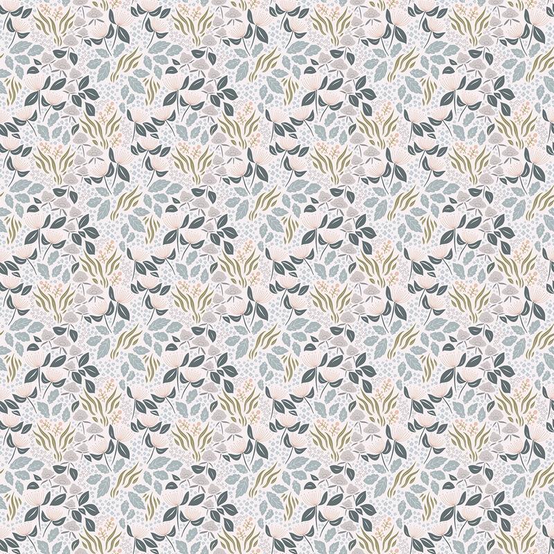 Vliestapete 'Adele' Blumen Pastell