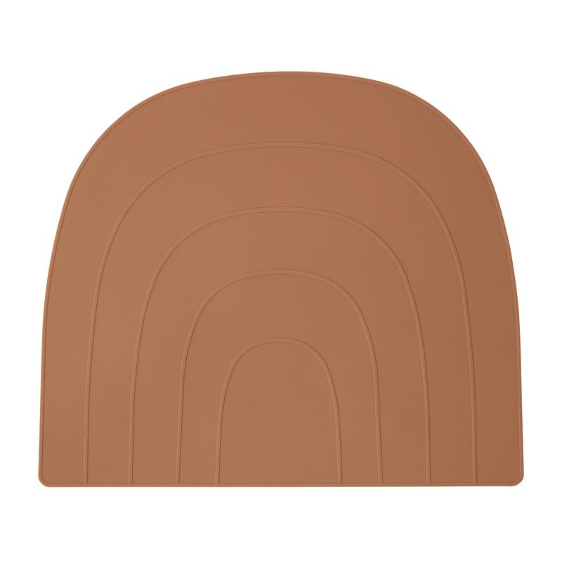 Tischset 'Regenbogen' Silikon camel