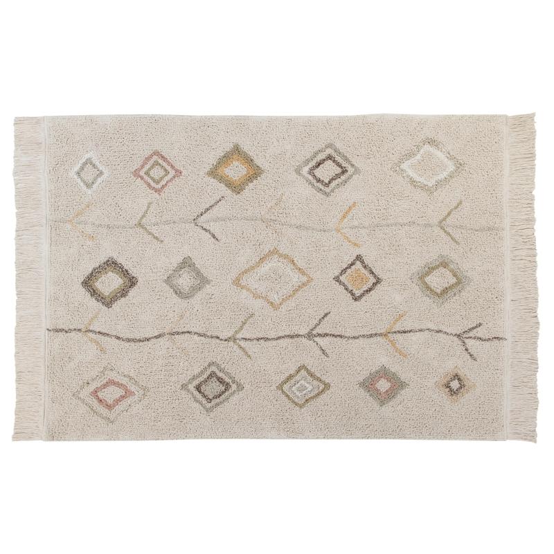 Teppich 'Kaarol' beige 140x200cm waschbar