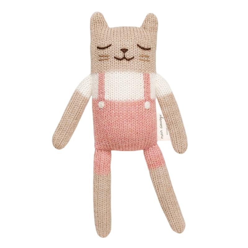 Kuscheltier 'Katze' Alpakawolle rosa