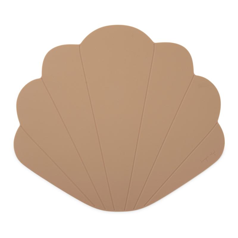 Tischset 'Muschel' Silikon altrosa dunkel