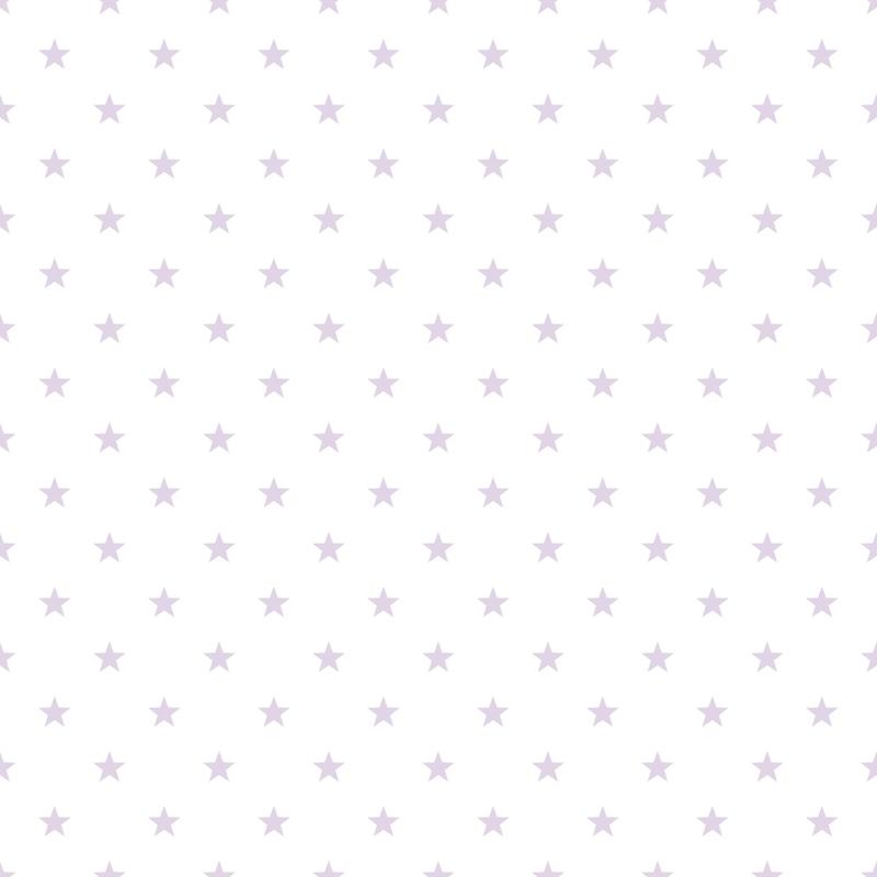 Vliestapete 'Sterne' flieder/weiß