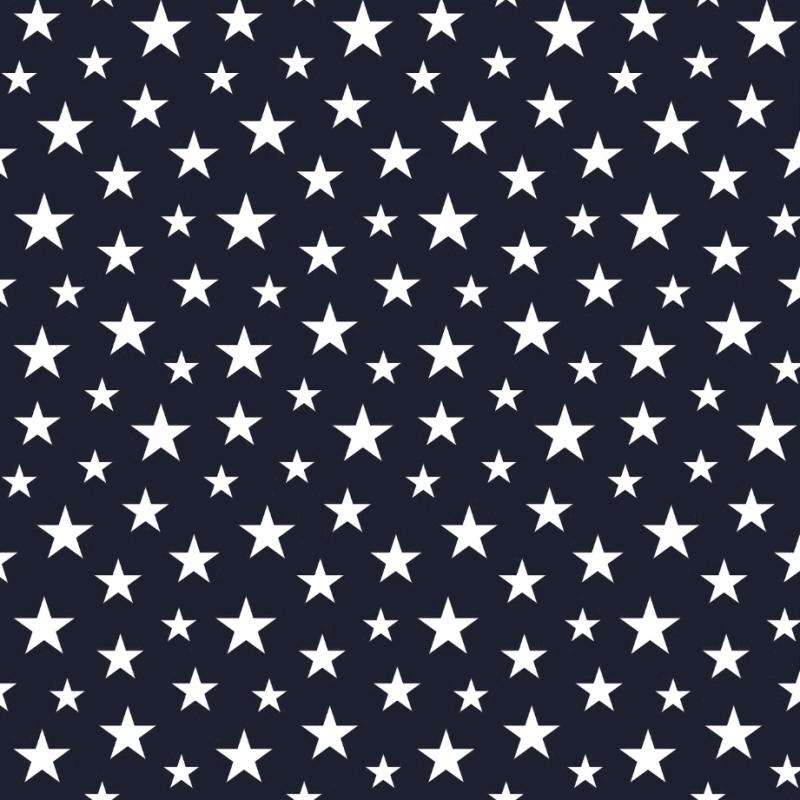 Vliestapete 'Sterne' marine/weiß