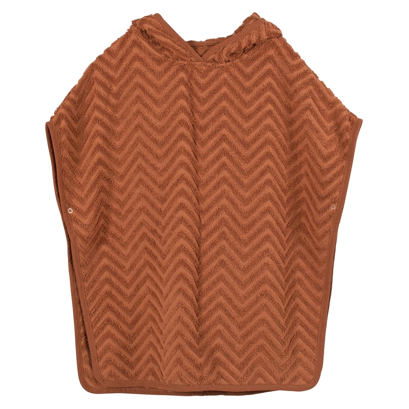 Badeponcho Bio-Frottee rost 0-5 Jahre