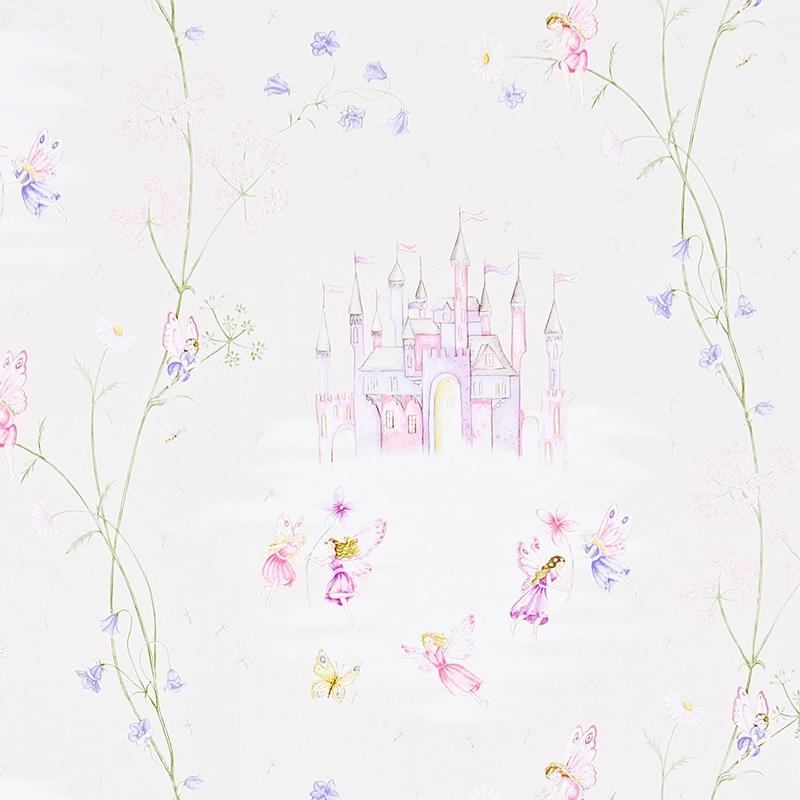 Tapete 'Feenschloss' rosa/flieder