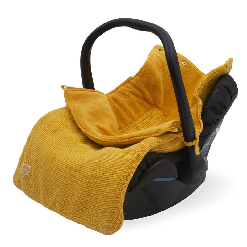Fußsack 'Basic Knit' Strick/Plüsch senfgelb