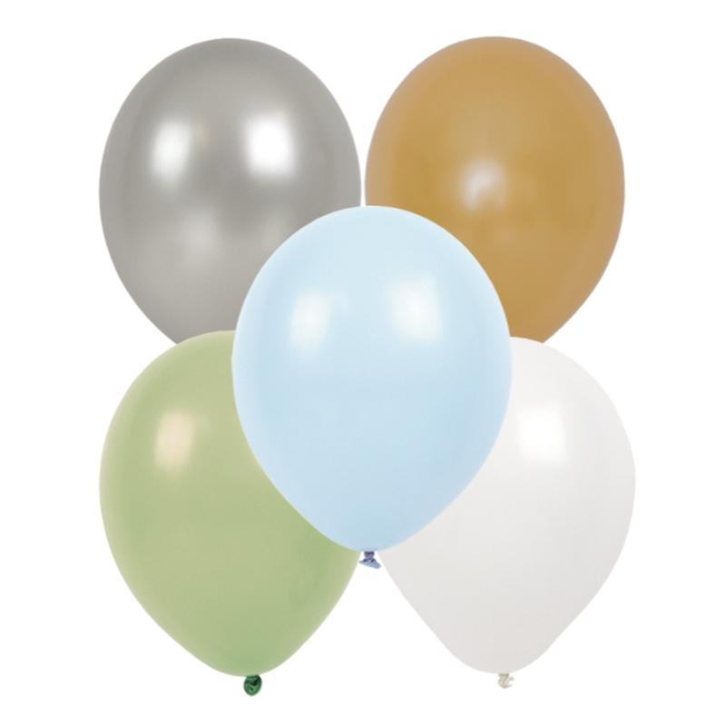 Luftballons blau/grün 20cm 10-tlg.
