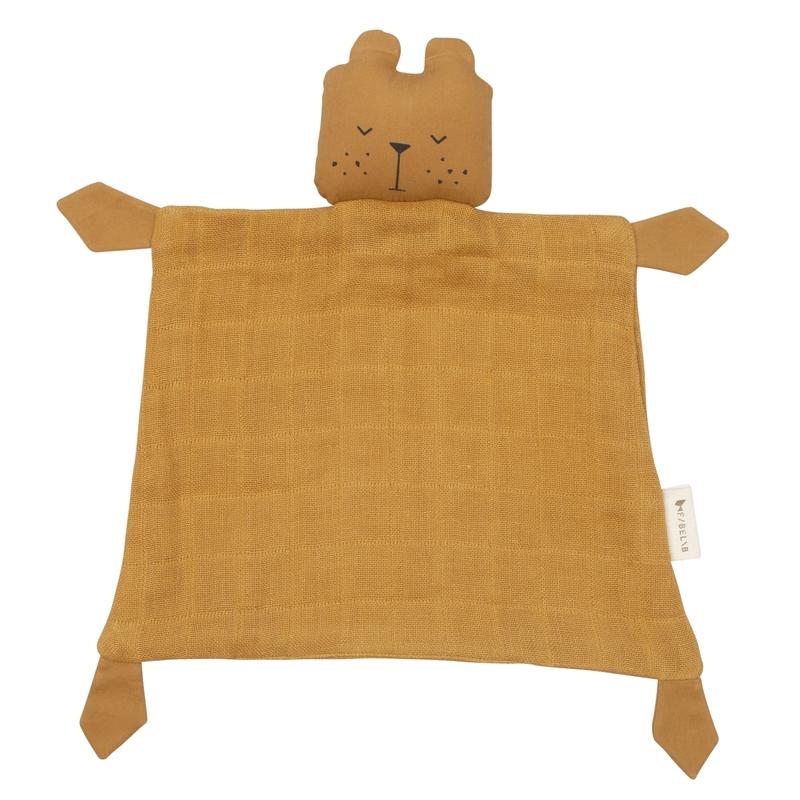 Schnuffeltuch 'Bär' Musselin camel