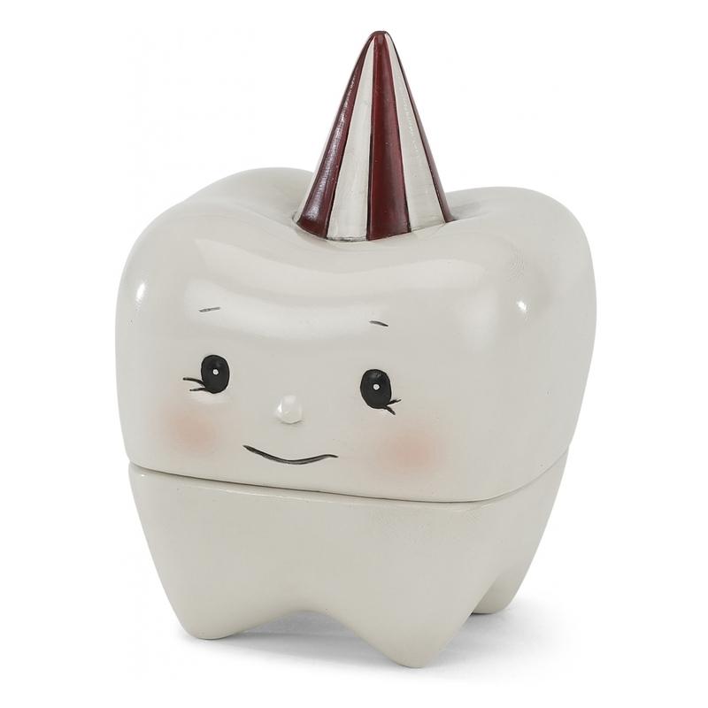 Zahndose Keramik creme/weinrot 9cm