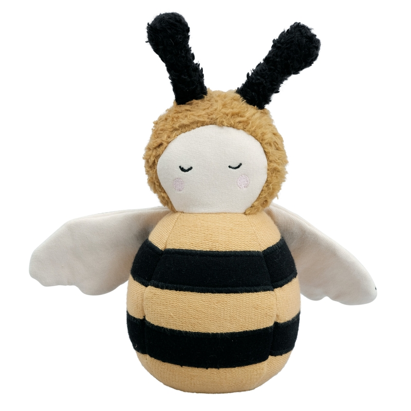 Steh-auf-Tier 'Biene' ocker/schwarz