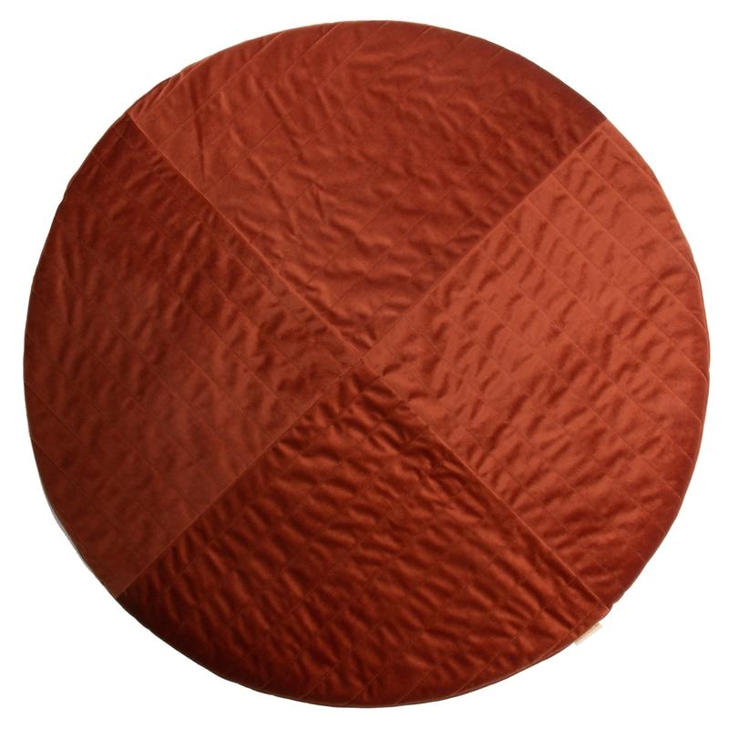 Spielmatte aus Samt rostrot rund 105cm