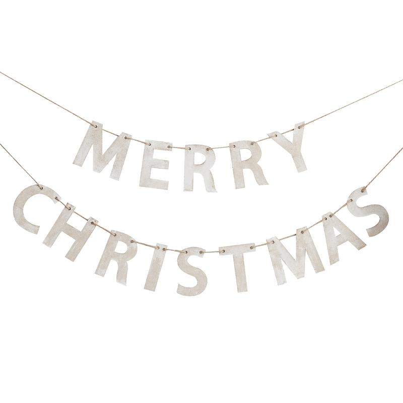 Holzgirlande 'Merry Christmas' 150cm