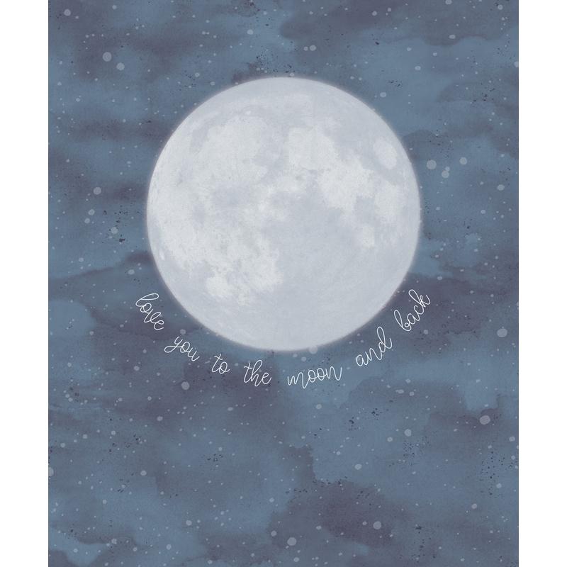 Fototapete 'Mini Me' Moon blau 232x280cm