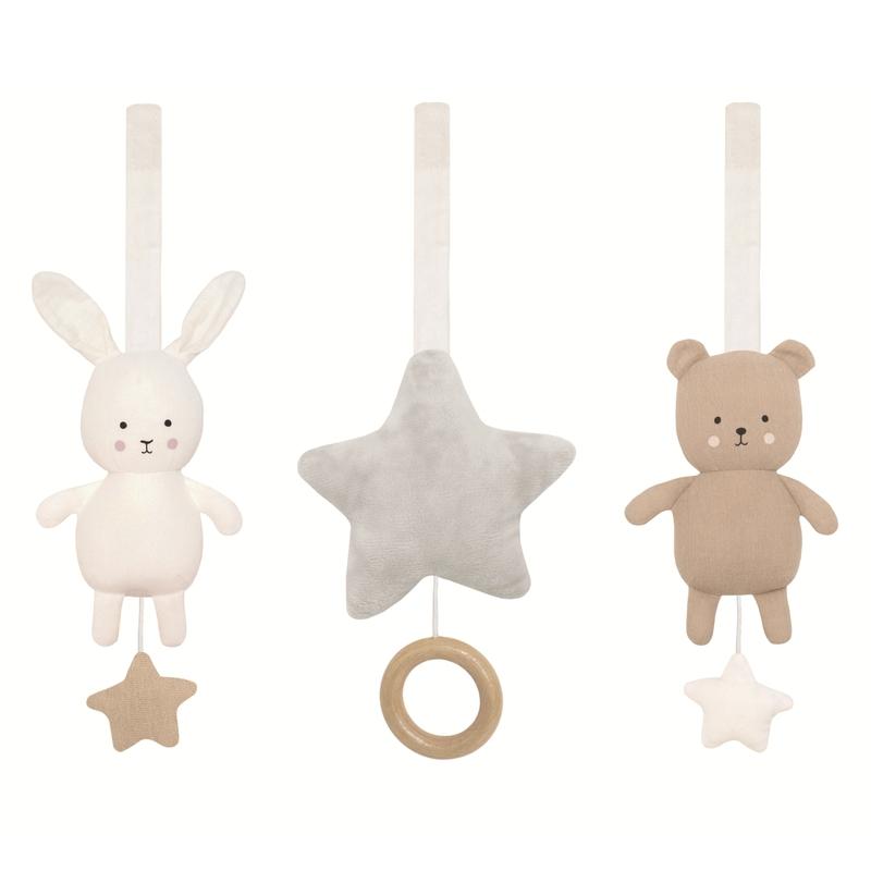 Spielbogen-Anhänger 'Bär & Hase' beige/grau